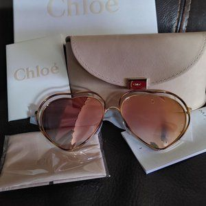 Chloe Poppy Love Heart 61mm Sunglasses - NEW